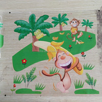 anti-scratch strong adhension special green color heat transfer sealing film for decoration