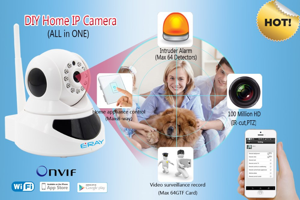 NEW Full HD Onvif PTZ Robot 720p CCTV Video <strong>security</strong> wireless P2P WIFI IP camera