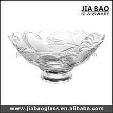 Glass Salad Bowl with Stand & Large Decorative Glass Bow & New Design Glass Bowl & Glassware