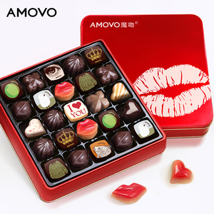 AMOVO pure cocoa butter colorful chocolate candy gift chocolate