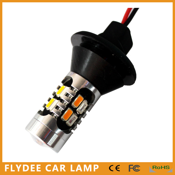 Car 12V 24V high power 20W 1156 Amber Turn signal light and DRL light White blue Red with decoder resistor