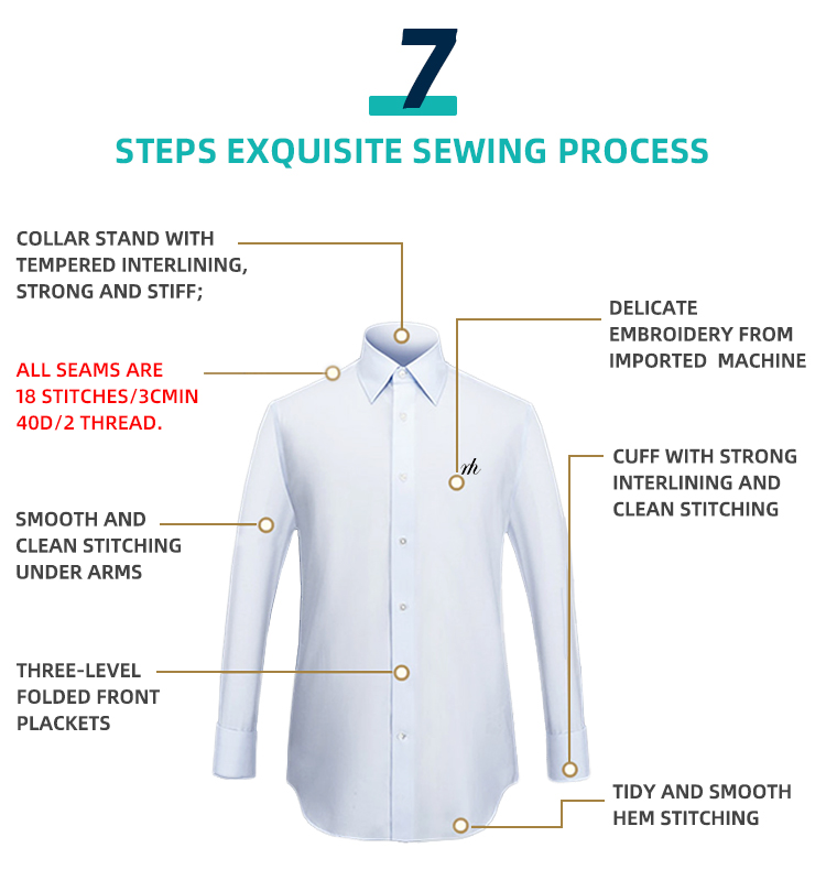 Hot Sale Solid Color Long Sleeves Easy to Iron Slim FIt Office Shirts