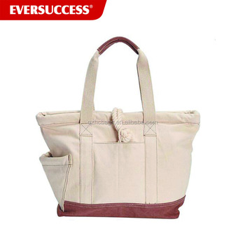 Newly Designed leather Canvas men's tote bag (ES-Z1)