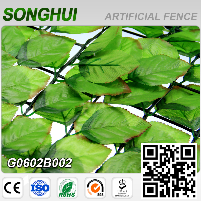 decorative plastic artificial leaves panels fence garden screens