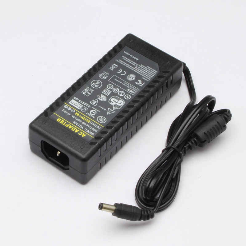 boqi 12V 6A 72W desktop power adapter AC to DC power adapter 72W for CCTV, LED strip, LCD Screen