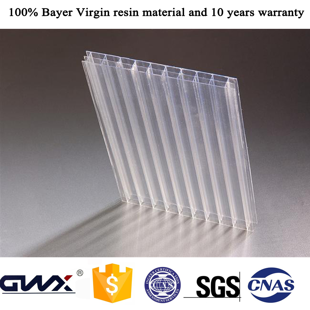 100% Makrolon Virgin Resin 10 Year Polycarbonate Sheet Bus Stop Roofing Polycarbonate Plastic Sheet