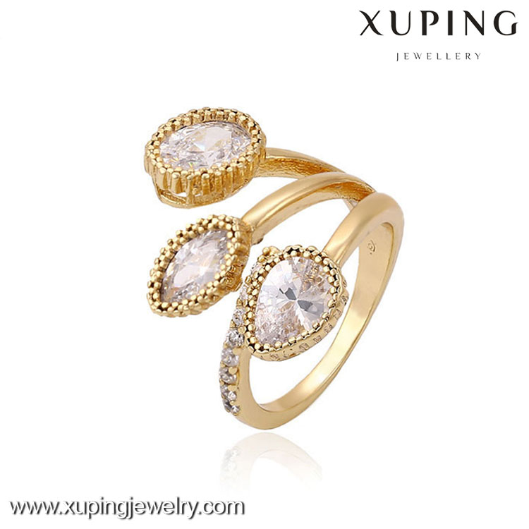 13280-xuping fashion ladies finger gold ring design
