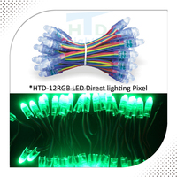 high quality square led pixel light 12mm dot for amusement ride