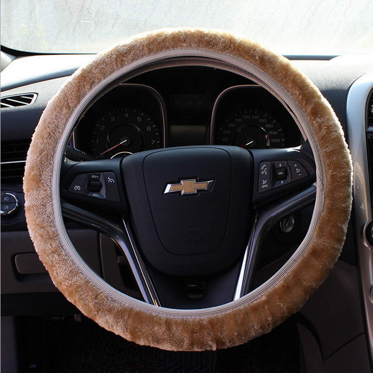 Girl New Fashion Soft Warming Universal Velvet Car Steering Wheel Cover BDJL501258