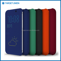 Colorfull Slim Dot Matrix View Smart Flip Case Cover For HTC One M8