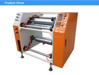 XHD-500 Semi automatic stretch cling film rewinding slitting machine