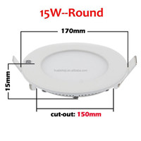 7 inch 15W led panl light, 1200LM LED ceiling recessed downlight, round led panel light