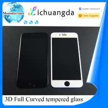 factory price full curved tempered glass screen protector for iphone 7