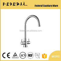 wholesale and retail fashion High quality brass chrome finished hot and cold double lever kitchen sink faucet basin faucet tap
