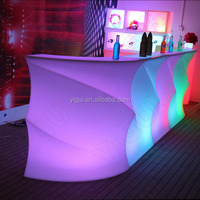 2015 factory direct new design party event illuminated bar counter table design