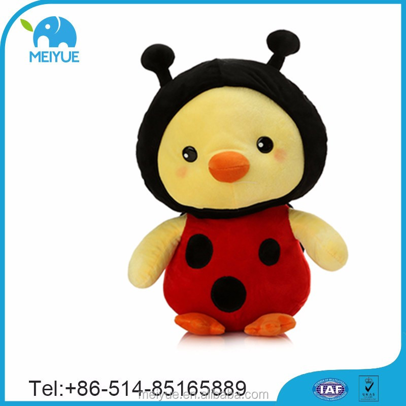 Plush Toys Stuffed Lovely Red Yellow Ladybird Chicken Toys