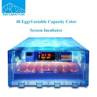 48 pcs 2017 New product Automatic Variable capacity Color screen Mini Egg Incubator