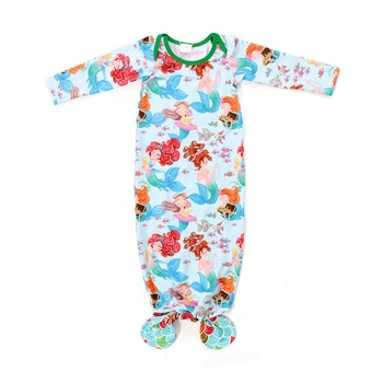 Boutiquer popular children clothes bulk sea-maid print clothing baby sleeping bag for girl