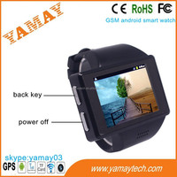 wrist watch phone single sim 2 inch dual core 240*320 touch screen wifi/gps/fm android smart watch phone wearable devices