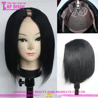 High Quality Indian Remy Human Hair U Part Wig Yaki Bob Human Hair Wig For Black Women