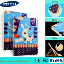 Zoyu Convenient Price shockproof smart PU Leather Flip Cover Case for iPad air