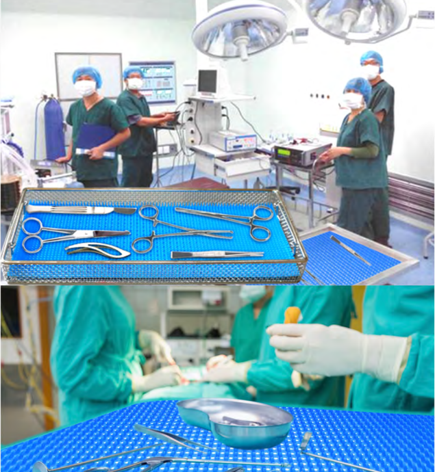 Silicone Mat for medical instrument basket