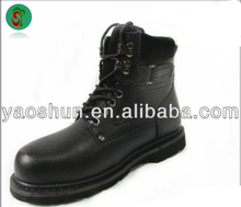 New model incredible comfortable high quality cheap black western cowboy safety working boots and shoes