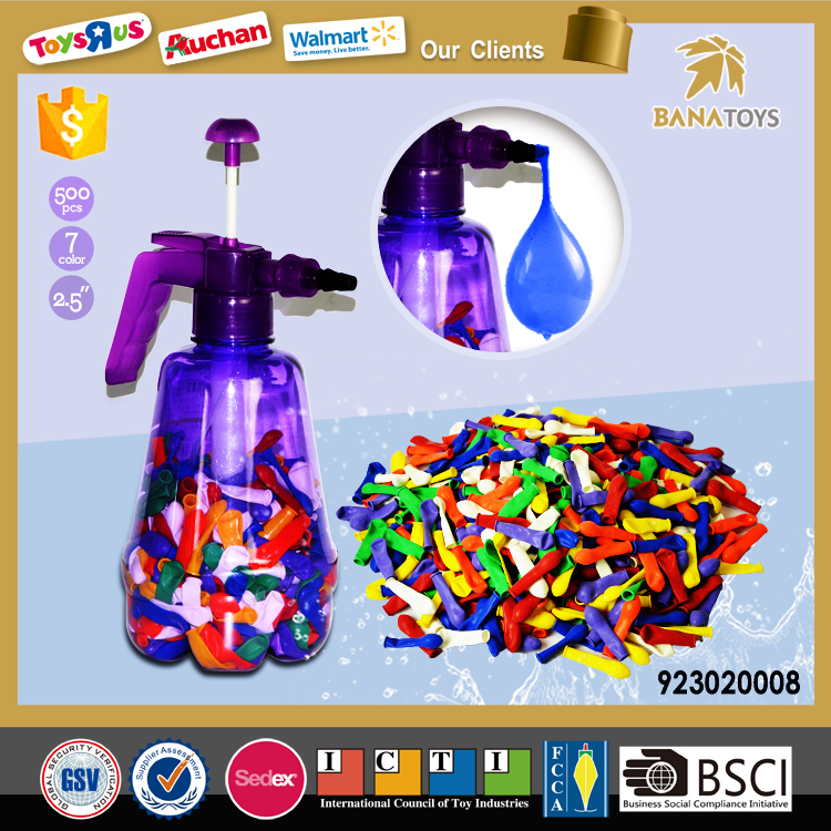 Free Shipping! 500pcs 2.5 inch rubber water balloon with filler