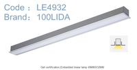 recessed led linear lighting 49mm*32mm LE4932