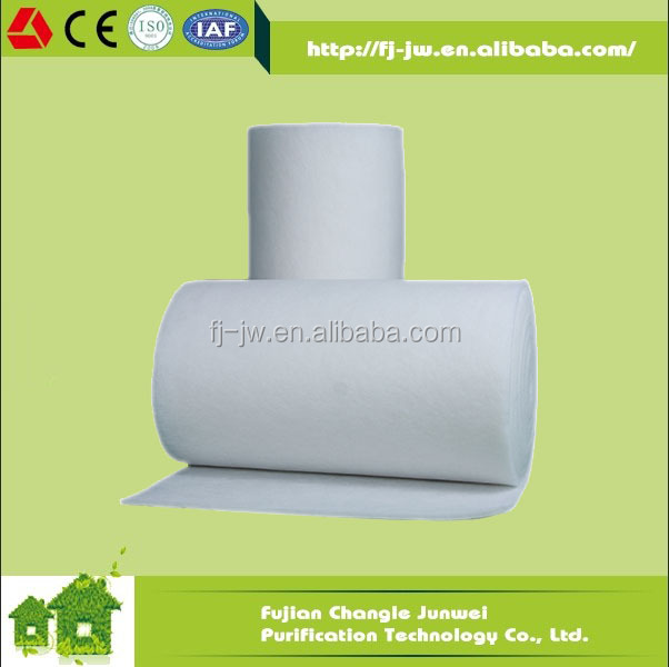 JW Good Efficiency White/White and Blue Synthetic Filter Fabric