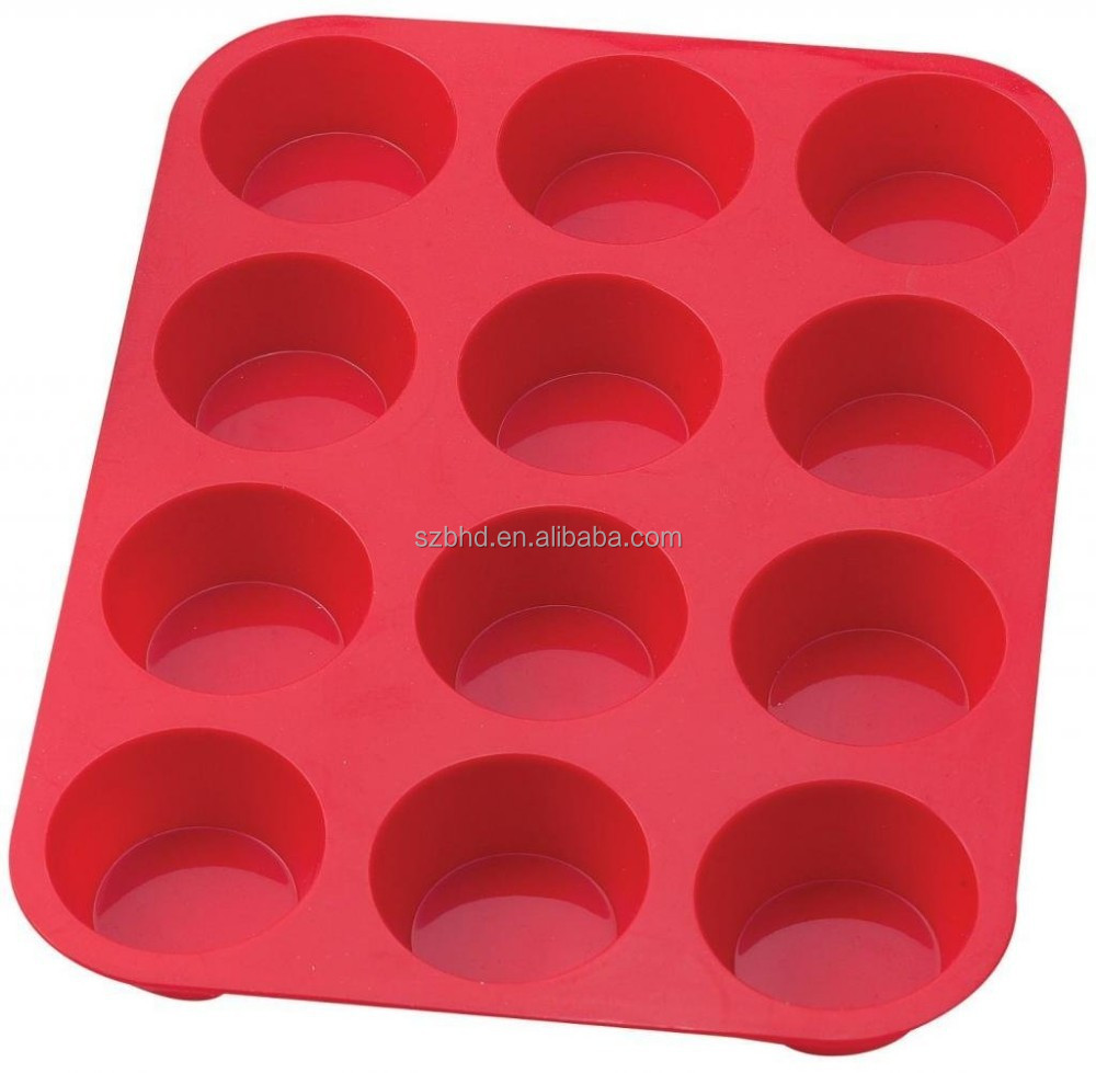 New products 2015 hot sale silicone cake mold,Muffin cups and Cupcake Maker 12 Cup