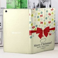 Merry Christmas OEM design case for ipad mini laptop leather case