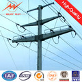 12m 6.5KN galvanized adjustable metal pole for transmission line project