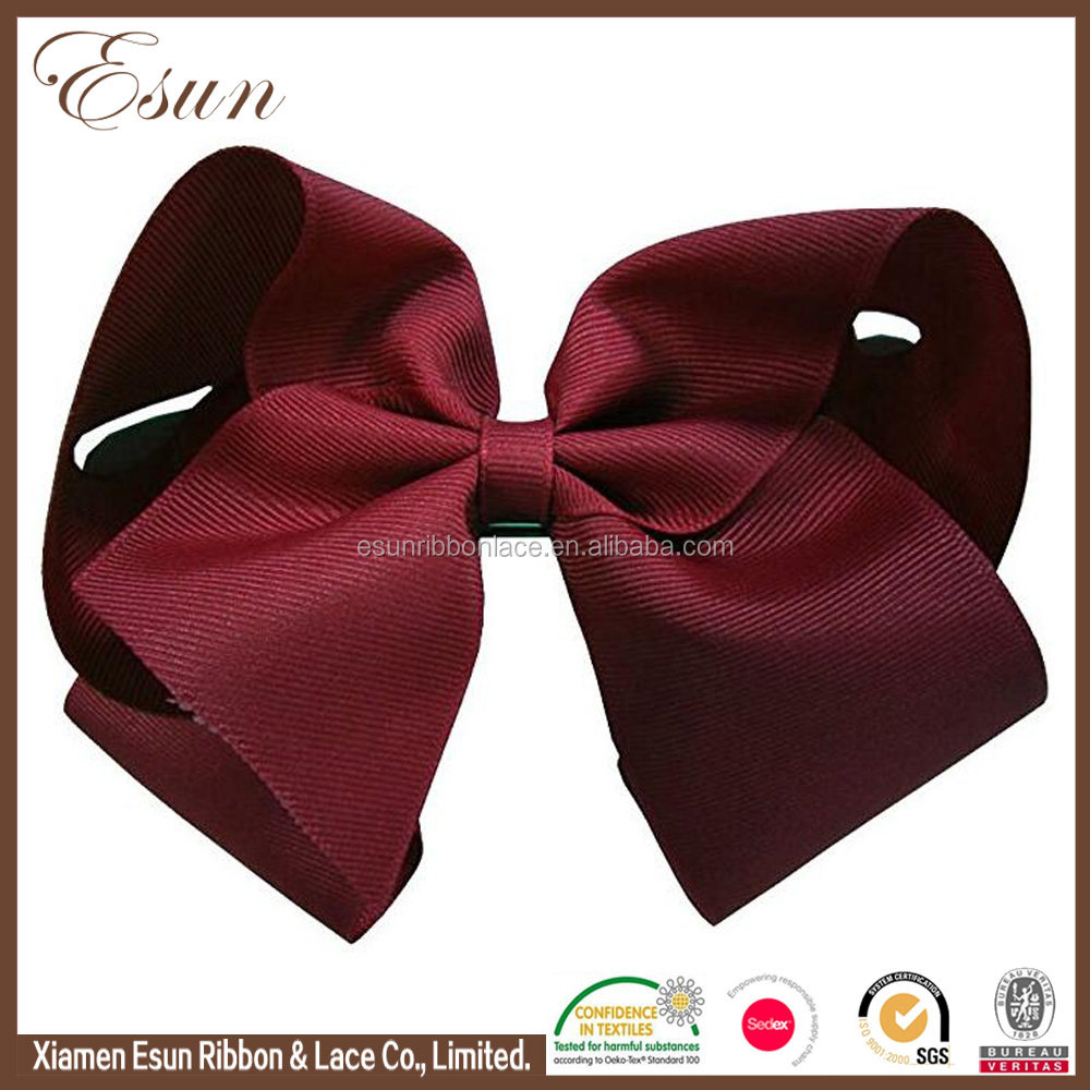Wholesale hair accessories girls 6'' big vintage hair bows with clip