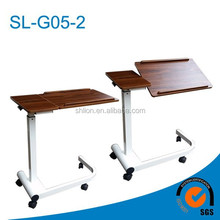 Patient Friendly Medical Over Bed Table Tiltable Over Bed Table