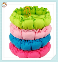 Bright color drawstring pumpkin nest pad cheap pet dog beds