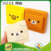 Different colors square shape silicone locking switch safety cover
