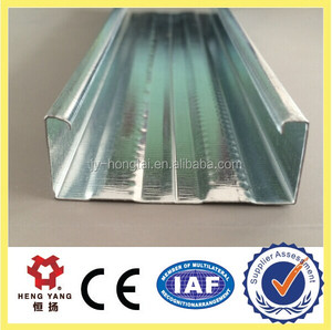 galvanized steel c channel/metal stud sizes for gypsum drywall