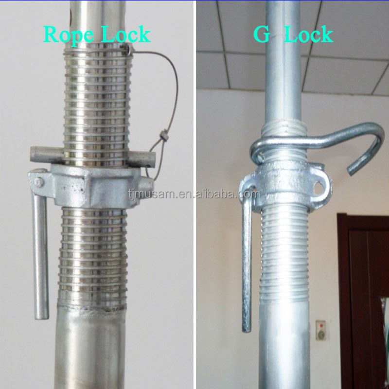 Adjustable galvanized acrow telescopic steel formwork prop and puntales metalicos