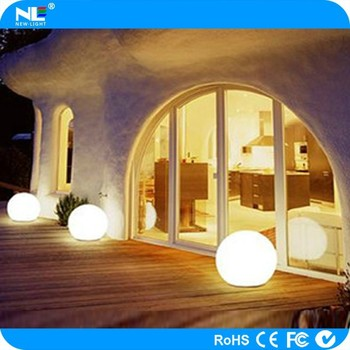 LED garden decoration plastic multicolored snow ball/ LED light outdoor decorative glow swimming pool ball