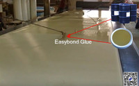 white extruded insulatio board glue