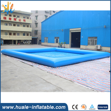 swimming pool blue/pvc swimming pool/square above ground pool