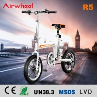 Hot sale Airwheel R5 two wheels 16inch light weight bicycle ebike electric folding bike for sale