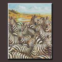 Abstract Africa animal Oil painting zebra oil painting on Canvas for home wall Decoration