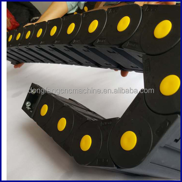 Nylon cable drag chain /cable carrier for large machine with good quality