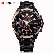 Curren 8023 Men Quartz Watches Top Brand Luxury Stainless Steel Fashion Sport Clock Wristwatch