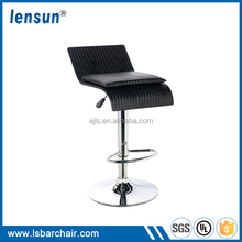 Height Adjustable Black Bar Chairs With Chromed Legs LS-11025