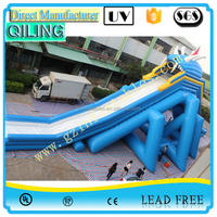 {Qi Ling}Most popular commercial giant hippo slide inflatable the city water slide for adult