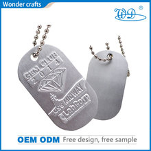 bulk wholesale promotion personalized iron shiny nickel plated stamping pet tag chain necklace animal name dog tag