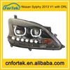 china manufacturer wholesale led color changing angel eyes headlights for Nissan Sylphy 2013 with DRL